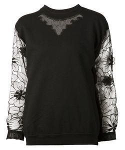 Alexis Mabille | Cotton Blend Sheer Detail Sweatshirt From