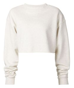 ORGANIC BY JOHN PATRICK | Nude Cotton Cropped Sweatshirt From