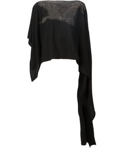 TVSCIA | Cotton Printed Cropped Asymmetric Poncho From