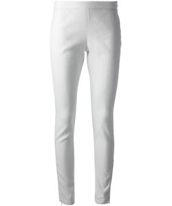 Peachoo+Krejberg | Linen Blend Slim Fit Trousers From Featuring A Mid Rise A Side Zip Fastening A Slim Fit A Regular Length And Zipped Ankles