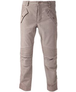 Michael Bastian | Dark Cotton Motocross Trousers From Featuring A Button And Zip Fly A Waistband With Belt Loops Front Flap Pockets Rear Flap Pockets And A Ribbed Design