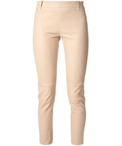 STOULS | Nude Lambskin Cropped Trousers From