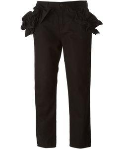 SIMONE ROCHA X J BRAND | Ruffled Sides Cropped Trousers
