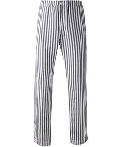 CAMOSHITA BY UNITED ARROWS | And Linen And Cotton Striped Trousers From