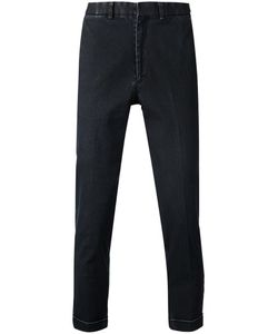 N. Hoolywood | Cotton Blend Coated Denim Trousers From N