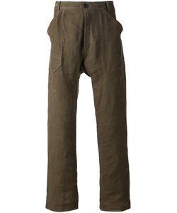 JAN JAN VAN ESSCHE | Linen-Cotton Blend Dropped Crotch Trousers From