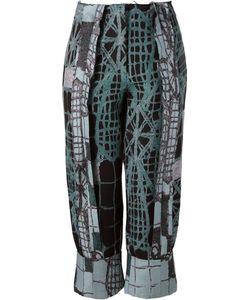 FERNANDA YAMAMOTO | Cropped Printed Trousers