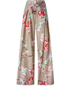 ERIKA CAVALLINI SEMICOUTURE | Multicoloured Cotton Wide Leg Printed Trousers From