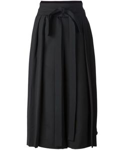 Mikio Sakabe | Wool Blend Belted Pleated Culottes From