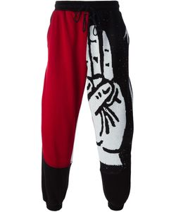 LIAM HODGES | And Cotton Hand Intarsia Knit Track Pants From