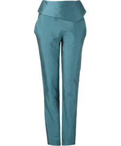 FERNANDA YAMAMOTO | Fold Over Waistband Straight Trousers