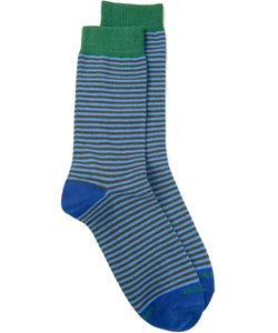 gallo | And Cotton Blend Striped Socks From