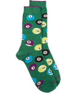 gallo | Cotton Blend Billiard Ball Socks From