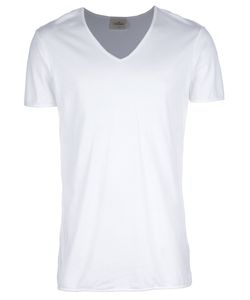 THE WHITE BRIEFS | Cotton T-Shirt From Featuring A V-Neck And Short Sleeves