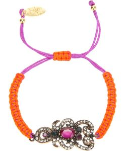 KATERINA PSOMA | Friendship Bracelet By Featuring A And Woven Cord And A Crystal Imbelished Central Motif