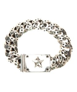 KING BABY | Sterling Chain Link Bracelet From Featuring A Carved Star Design And A Clasp Fastening With Large Star Motif At The Front