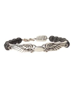 KING BABY | Beaded Bracelet From Featuring A Front Wing Charm A Made In The Usa Embossed Charm And A Hook Fastening