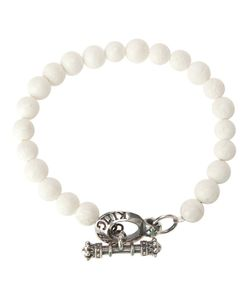 KING BABY | Beaded Bracelet From Featuring A Tone Brand Engraved Hook Bar Fastening