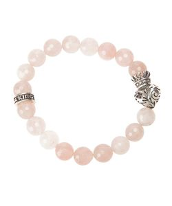 KING BABY | Beaded Bracelet From Featuring A King Heart Charm A Brand Embossed Charm And A Slip On Design