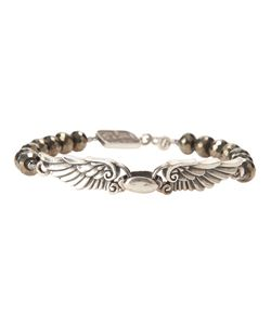 KING BABY | Beaded Bracelet From Featuring Wing Span Charm Front A Made In The Usa Embossed Charm And A Hook Fastening