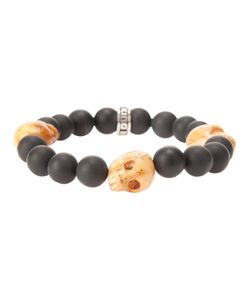 KING BABY | Beaded Bracelet From Featuring Skull Charm Detailing And A Tone Brand Embossed Charm