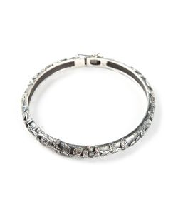 UGO CACCIATORI | Leaves Engraved Bangle From