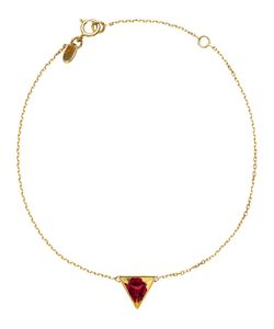 RUIFIER | 18kt Stella Ruby Bracelet From Featuring A Spring-Ring Fastening And A Startlingly Refracting Ruby Creates The Illusion Of A Hexagon In Its Highly Polished Deep-Cut Pyramidal Setting Which Is Suspended On A Fine 18kt Chain
