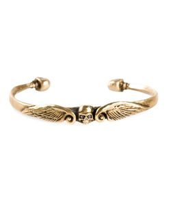ROMAN PAUL | Diamond Skull Wings Torque Bangle