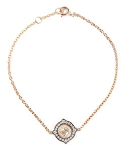MONAN | 18kt Bracelet From Featuring A Spring-Ring Fastening And A Centre Charm With Diamond Pave Design
