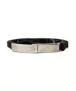 GOTI | Leather Plaque Detail Bracelet From Featuring A Distressed Finish
