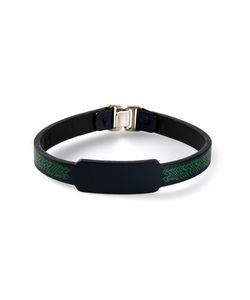 JVDF | Leather Hand-Painted Herringbone Bracelet From Featuring A Hook Eye Fastening