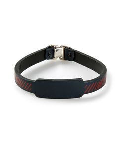 JVDF | Leather Hand-Painted Repp Stripe Bracelet From Featuring A Hook Eye Fastening