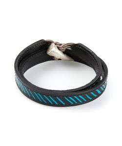 JVDF | Leather Hand-Painted Repp Stripe Bracelet From Featuring A Toggle Fastening