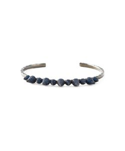 JO LLE JEWELLERY | And Rhodium Spike Bangle From Featuring Sapphire Studs