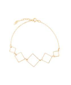 BY BOE | 14kt Filled Sterling Square Link Bracelet From