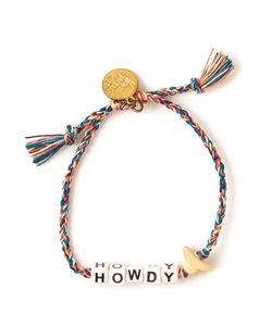 Venessa Arizaga | Multicoloured Plated Silk And Ceramic Howdy Bracelet From
