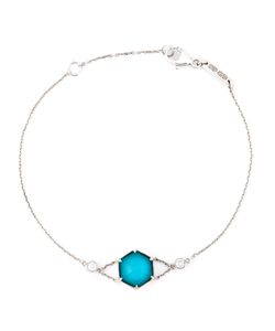 Stephen Webster | 18kt 212gm Turquoise Quartz Bracelet From Featuring A Rolo Chain A Lobster Clasp Closure And Diamond Spacer 2pc/007ct