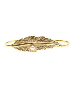 Leivankash | -Tone Brass Feather Detail Bracelet From
