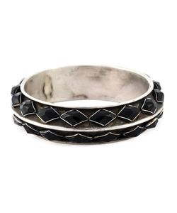 GOTI | Diamond Shaped Onyx Bangle From