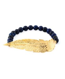 Leivankash | Beaded Feather Bracelet
