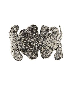 Anndra Neen | -Toned Melted Flower Cuff From Featuring Three Textured Flower Charms