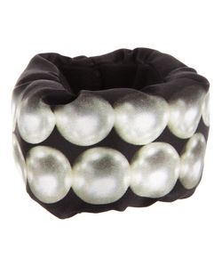 A'N'D | Puffa Printed Silk Cuff From Featuring A Double Row Of Printed Pearls