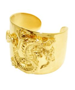 Tom Binns | 24kt Plated Oriental Dragon Cuff From Animal Collective Collection Featuring An Open Design And Oriental Dragon Motif