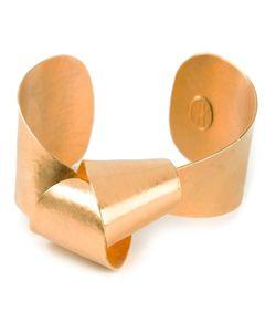 Hervé van der Straeten | Plated Sculptural Knot Cuff From Featuring A Knot Motif