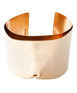 NORITAMY | Plated Brass Large Dented Cuff Bracelet From