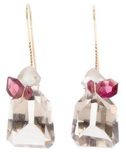 UZERAI EDITS | Quartz Tourmaline Drop Earrings