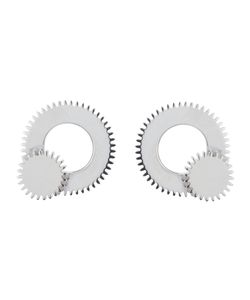 CLARICE PRICE THOMAS | Sterling Large Winding Wheel Stud Earrings From Featuring A Butterfly Fastening