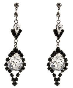 Tom Binns | Crystal Teardrop Earrings From Dumont Noir Collection Featuring And Crystals And A Butterfly Closure