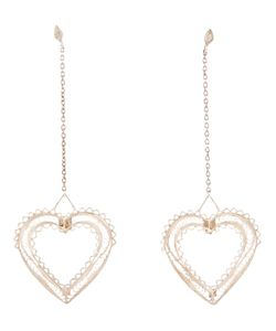 CLIZIA ORNATO | 925 Filigree Bo Earrings From Featuring A Long Hanging Chain With A Heart Drop