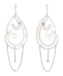 CLIZIA ORNATO | Dream Catcher Style Filigree Earrings